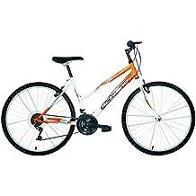 F.lli Schiano Mtb GTS - Bicicleta 26'' de montaña 18V para mujer, color Blanco/Naranja