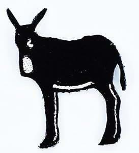 Patch écusson brodé ane catalogne catalan drapeau burro Thermocollant