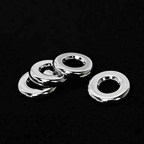 Wotefusi Car New 4 Pieces Chrome Interior Door Lock Pins Rings Knob Trim Covers Set For Jeep Compass 2011-2016 2012 2013 2014 2015