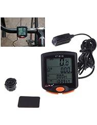 lerysox (TM) nouvelle bogeer YT-813imperméable Import Capteurs Écran LCD rétroéclairé Mountain vitesse Odomètre Ordinateur de vélo pour vélo de route