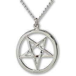 Pentáculo invertido pagano gótico Collar pendiente medieval del renacimiento de Wiccan