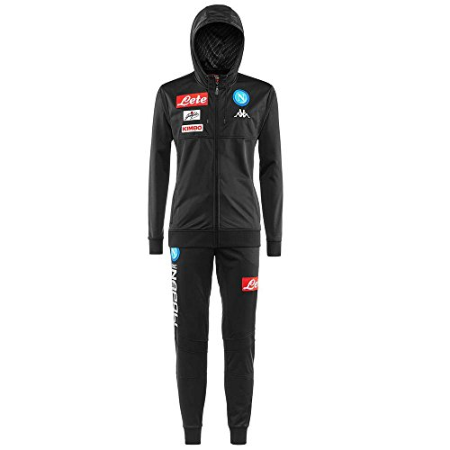 Kappa - Trainingsanzug ANDERIN KARBON NAPOLI für mann - 924 - Black-Grey Fantasy - M (Napoli Soccer Shirt)