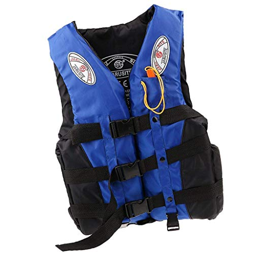 Tallin Adult Kids Life Jacket Swimming Boating Drifting Floating Vest with Whistle (Multi)