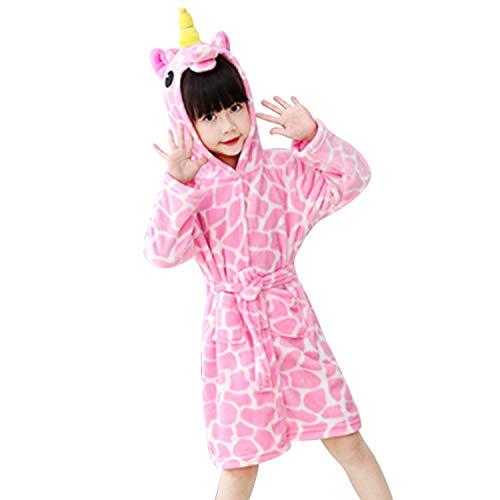 chicolife Kinder Jungen/Mädchen Bademantel Nachthemd Kostüm Thema Party Outdoor Pool Robe Strand vertuschen Pink
