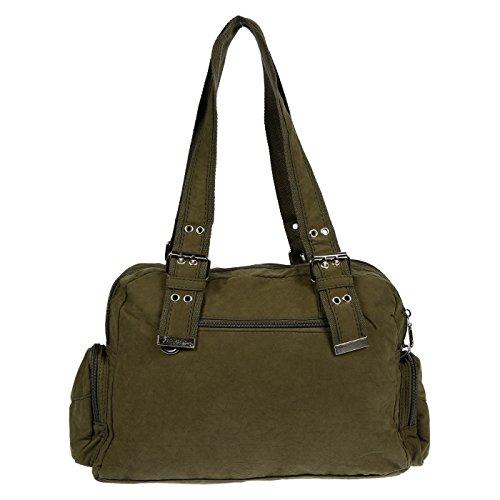 Christian Wippermann®, Borsa a spalla donna marrone marrone 36x26x12 verde