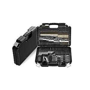 WOLFGANG 246 Teile Bohrer Bit Set für Akkubohrschrauber, Bohrmaschine, Bitsatz Bithalter magnetisch, Twist-, Fräs-, Holz…