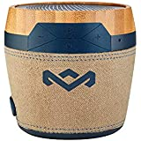 House of Marley Chant Mini BT - Portable Bluetooth Speaker, Splash Resistant, 6hr Play Time Battery Life, Mic Speakerphone, Carabiner Clip, Wireless Connect iPhone, iPad, Samsung and More - Navy