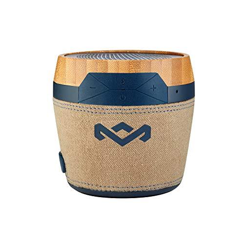 House of Marley Chant Mini tragbare Bluetooth Lautsprecherbox (spritzwassergeschützt, 6 Std. Akkulaufzeit, integriertes Mikrofon, Karabinerhaken, kabellos verbinden mit iPhone, Samsung etc) navy (Iphone Boombox Lautsprecher 6)