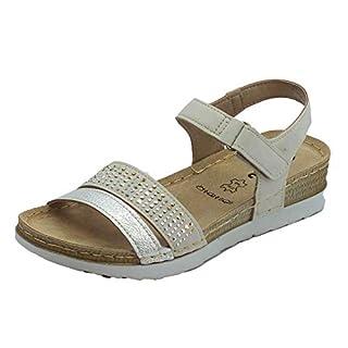 INBLU Women's Fashion Sandals Beige Size: 4