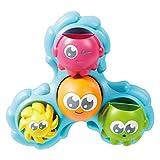 TOMY Badewannenspielzeug Wasserspiel Dreh- und Spritz Oktopus - hochwertiges Babyspielzeug für die Badewanne - Badespielzeug - für Babies und Kleinkinder - ab 18 Monate