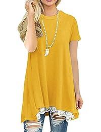 Lover-Beauty Camisa Mujer Casual Suelto Manga Larga Vestido Blusa