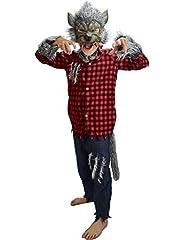 Idea Regalo - Little Babas Costume da Halloween di Lupo Mannaro per Bambini di età Compresa tra 6 e 8 Anni