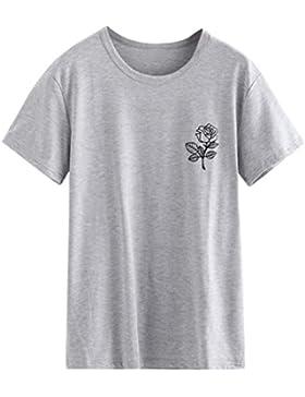 [Sponsorizzato]T shirt Elegante Ragazze Giovani donne Rcool Stampa rosa Camicia Manica corta Estate casuale sportivo gilet top