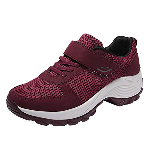 Lilicat Donna Sneakers Scarpe da Ginnastica Corsa Sportive Fitness Running Basse Interior Casual all'Aperto Ginnastica Scarpe(Vino,39 EU)