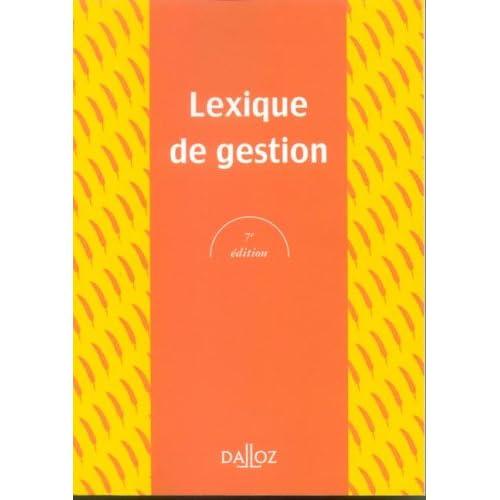 Lexique de gestion