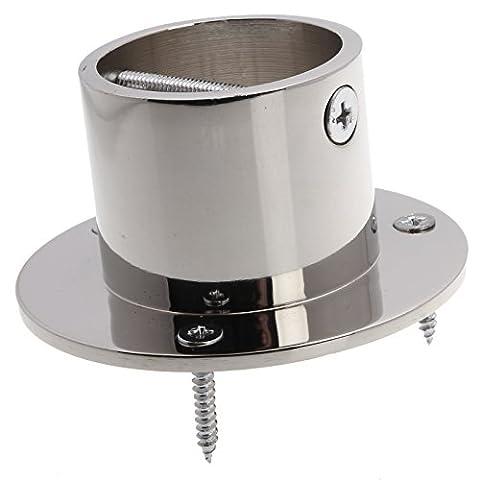 Boîte de 4contemporain Patio terrasse Corde de fixation corde Tasse fin chrome 36mm