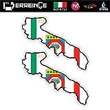 ERREINGE Sticker x2 PUGLIA ITALIEN Aufkleber geformtes PVC für Abziehbild, Wand, Auto, Motorrad,...