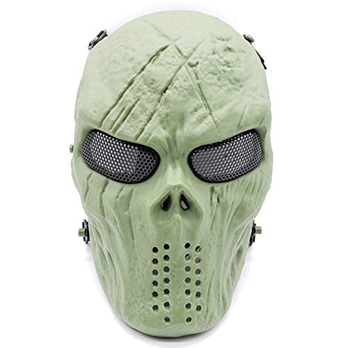 GPAN Schädel Helm Masken Halloween COS Masken Geister Creepy Maske Masquerade Schädel Party Cosplay Requisiten,Green (Geist Pferd Kostüm)
