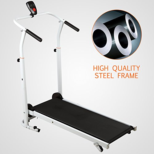 41JV5iMuMFL. SS500  - Fitnessclub Folding Manual Treadmill Walking Machine Incline Cardio Fitness Running Exercise Adjustable Height Slope adjustment