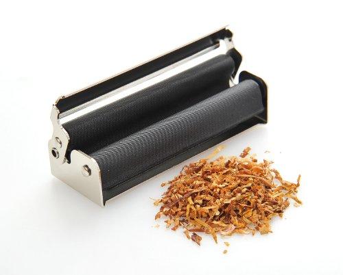 Manuelle Zigarettendrehmaschine (Zigarettenmaschine / Dreher) aus Zinklegierung (8cm x 2.9cm x 2cm), silber, Mod. 1548 DE