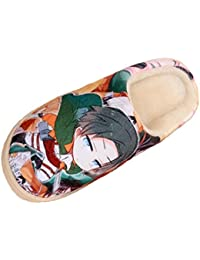 Bromeo Attack on Titan Anime Super Suave Zapatillas de estar por casa Felpa Zapatos