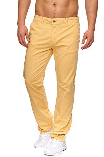 TAZZIO Styler Chino Stoff Hose ChiNoHose Slim Fit 436 Mustard Gelb 3632
