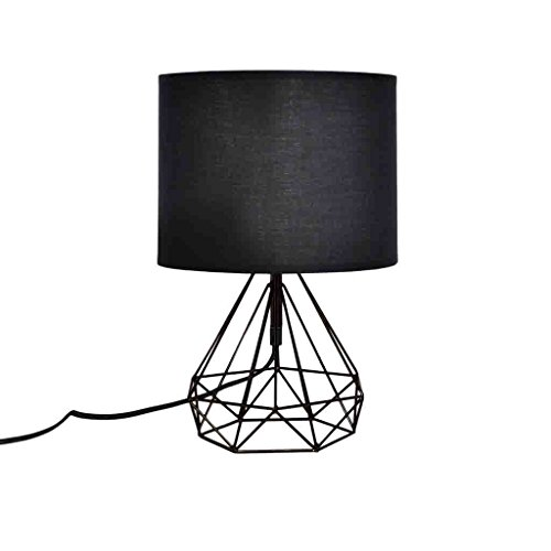Zons Lampe à Poser Filaire Géométrique 19xH35.5cm Noir