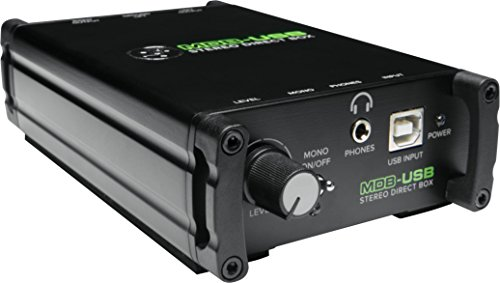 Mackie MDB-USB Passive Stereo DI-Box (mit USB, auch als Audio-Interface nutzbar)