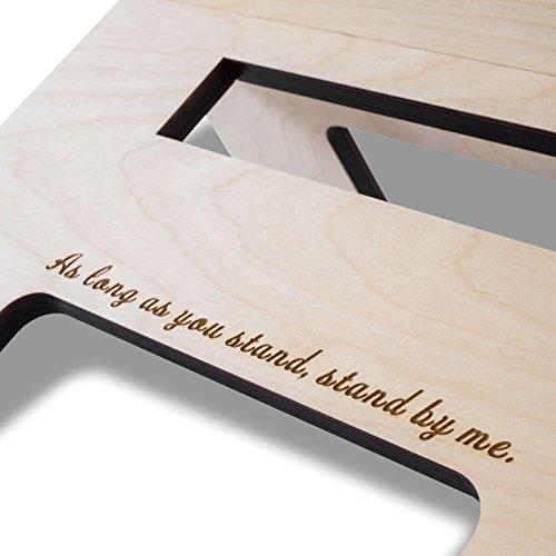 Stehschreibtisch Aufsatz aus Holz - Der höhenverstellbare STANDSOME SLIM Steh Sitz Schreibtisch für ein gesundes Arbeiten im Büro oder ganz egal wo - 4