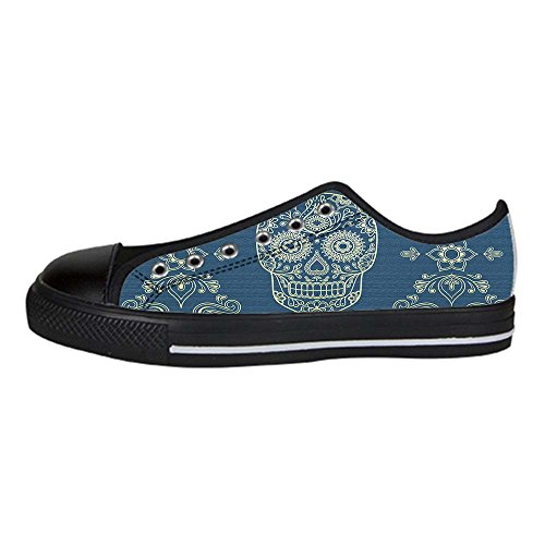 Dalliy Flower Sugar skull Men's Canvas shoes Schuhe Lace-up High-top Sneakers Segeltuchschuhe Leinwand-Schuh-Turnschuhe B