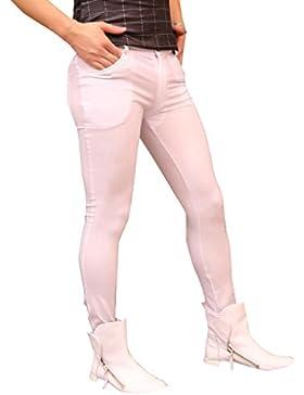 LinvMe Herren Skinny Pencil Hose Elastische Legging Oberschenkel Lycra Hosen