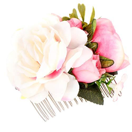 wanfor Brautschmuck Blumen Haar Clip Mädchen Frauen Fascinator Haarspange Haarspange Haarkamm für Hochzeit Party Ornaments