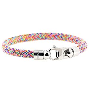 KOMIMAR maritim Segeltau Damen Armband HIPPIGIRL - Surfer Armband - Maritim Schmuck - Mädchen Schmuck - Nautische Armbänder - Handmade in Germany - Damen Armband Armreif