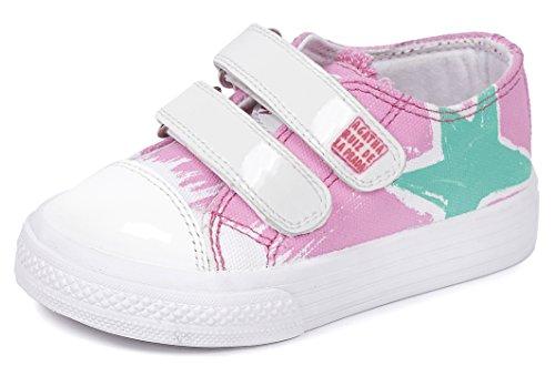 Agatha Ruiz de la Prada 152920, Low-Top Sneaker bambina, Rosa (Pink (A-ROSA (PIQUE))), 25