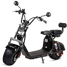 ECOXTREM Moto electrica Scooter 1200w bateria 12Ah 60v Patinete Bici Chopper City Coco Negra y Verde