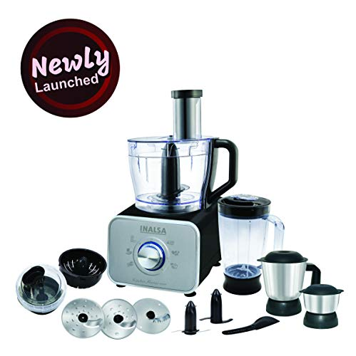 Inalsa Kitchen Master 1000-Watt Food Processor (Black/Silver)