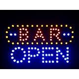 nled072-b BAR OPEN LED Neon Sign (40.6cm x 25.4cm) Neonlicht Lichtwerbung
