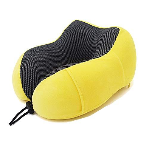whale-fall Nackenkissen, U-förmig, Memory-Schaumstoff, weich, langsames Rückprallen, für Reisen, Nacken und Gesundheitswesen, 1 Stück Yellow Set -