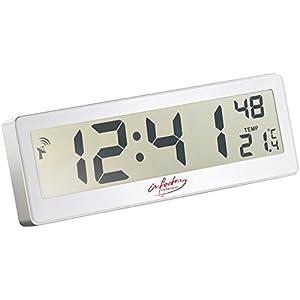 infactory Funkuhr großes Display: Kompakte Funkuhr mit riesigem XXL-LCD-Display und Temperatur-Anzeige (Funkuhr Digital…