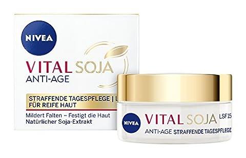 NIVEA Anti-Falten Tagespflege, 50 ml Tiegel, Vital Soja Anti-Age (Cellular Tagescreme)