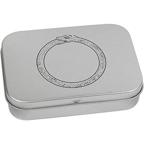 110mm x 80mm 'Schlange Essen Schwanz (Ouroboros)' Blechdose / Aufbewahrungsbox (TT00001387) Schlange Essen Schwanz