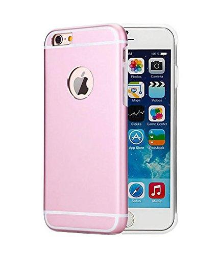 Besta Curved Slim couvercle en métal Aluminium + Inner Case TPU souple pour iphone5 5s/iPhone SE,Housse de protection pour haute qualité Apple iPhone 5 5s/iPhone SE -Gris C/Pink
