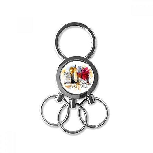 DIYthinker Herren Auto Schlüsselanhänger Kreative Schmuck Keyring 7 X 2.8Cm, 2.1Cm Durchmesser für das Bild mehrfarbig (Mailbox Fun)