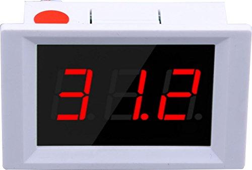 Termómetro LED,Yeeco 0.56''DC 12V Medidor Temperatura