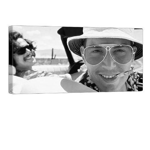 Fear And Loathing In Las Vegas Leinwand Bild von GALVII - Edler Kino Kunstdruck auf echter Leinwand, fertig aufgespannt auf hochwertigen Holzkeilrahmen - 100x50cm