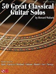50 Great Classical Guitar Solos. Partitions pour Tablature Guitare, Guitare Classique