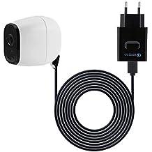 Netzteil Adapter kompatibel mit Netgear Arlo Überwachung Kamera Schwarz