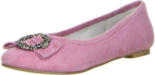 Vista Damen Trachtenschuhe Almhaferl Ballerinas rosa, Größe:37;Farbe:Rosa