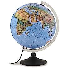 Tecnodidattica - Mappamondo Atmosphere Solid B, Luminoso, Girevole, cartografia Fisico/Politica e meridiano graduato, Diametro 30 cm