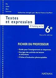 Français, 6e, textes, professeur
